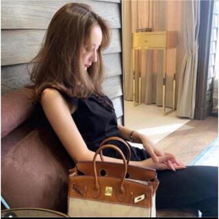 トゥデイフル(TODAYFUL)の完売 louren suzumiさん愛用 レザーキャンバス bag(ハンドバッグ)