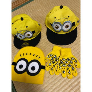ユニバーサルスタジオジャパン(USJ)のミニオン  帽子 キャップ 手袋(帽子)