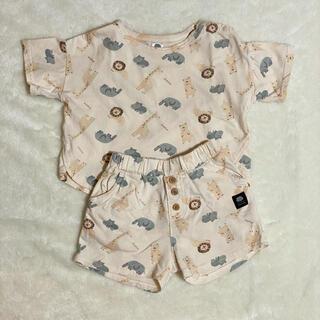 フタフタ(futafuta)のフタフタ アニマル セットアップ ホワイト 80(Tシャツ)