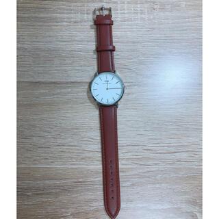 Daniel Wellington - Daniel Wellington 腕時計/ シルバー×ブラウンレザー新品未使用