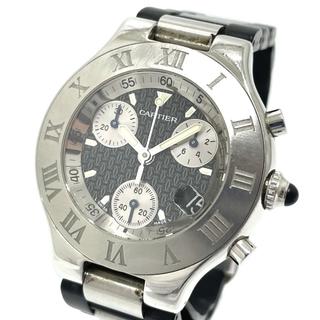カルティエ(Cartier)のカルティエ W10125U2 クロノスカフ マスト21 クオーツ メンズ腕時計(腕時計(アナログ))