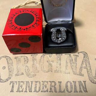 テンダーロイン(TENDERLOIN)の人気品! TENDERLOIN ホースシューリング シルバー ダイヤモンド 13(リング(指輪))