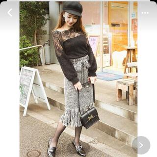 ロイヤルパーティー(ROYAL PARTY)の新品タグ付 ロイヤルパーティー  ツイードスカート(ひざ丈スカート)