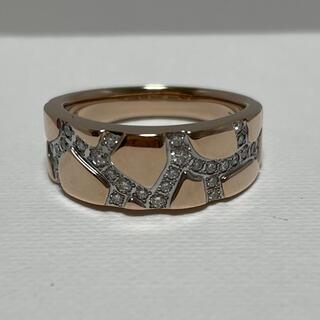 タサキ(TASAKI)のタサキ K18 サクラゴールド ダイヤリング 美品 13号弱(リング(指輪))
