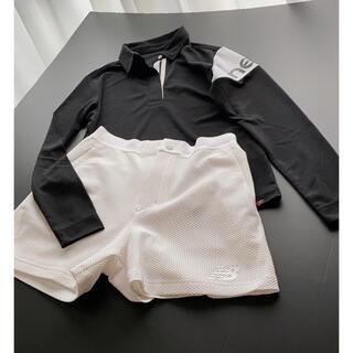 New Balance - ニューバランスゴルフ ②点セット 長袖ポロシャツ ショートパンツ
