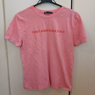 ZARA - ZARA ピンクTシャツ