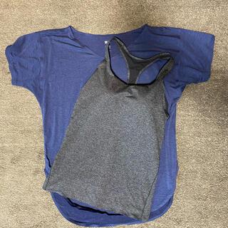 ユニクロ(UNIQLO)の未使用★エアリズム ヨガウェア ブラタンクトップ&Tシャツセット(ヨガ)