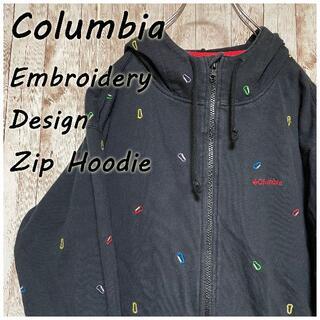 Columbia - Columbia 刺繍 デザイン ジップアップパーカー