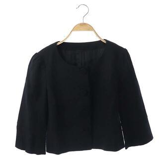アナイ(ANAYI)のアナイ ANAYI ノーカラージャケット リネン混 38 黒(その他)
