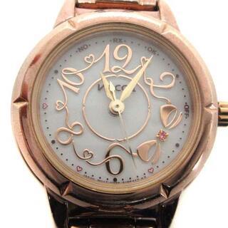アザー(other)のウィッカ wicca 腕時計 電波ソーラー アナログ ピンクゴールド色 H336(腕時計)