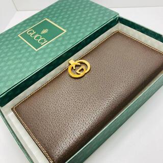 Gucci - 美品 オールドグッチ GUCCI 長財布 箱付き レザー ヴィンテージ 男女兼用