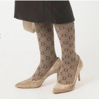ドゥーズィエムクラス(DEUXIEME CLASSE)の新品 ドゥーズィエムクラス jacquard socks ベージュ(ソックス)