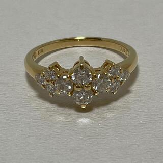 タサキ(TASAKI)のタサキ K18 計0.8ct スィートテンダイヤリング 美品 11.5号(リング(指輪))