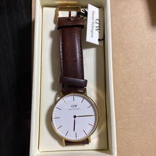 ダニエルウェリントン(Daniel Wellington)のダニエルウェリントン メンズ腕時計  箱保証書付 美品(腕時計(アナログ))