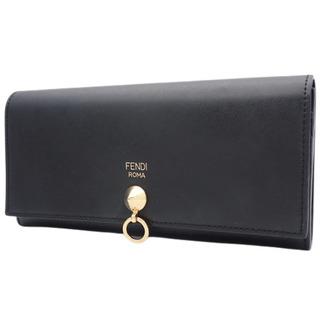 フェンディ(FENDI)のフェンディ コンチネンタル ウォレット カーフ ブラック 40802007437(財布)