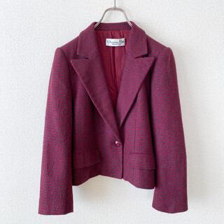 クリスチャンディオール(Christian Dior)のクリスチャンディオール / テーラードジャケットプレタポルテ 赤(テーラードジャケット)
