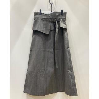 プラージュ(Plage)のR'IAM PLAGE / ペプラムベルテッドスカート / 18AW / 38(ロングスカート)