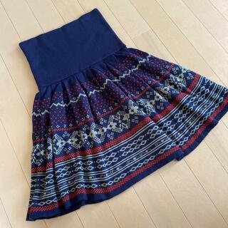 フェリシモ(FELISSIMO)の腹巻き付きスカート(ひざ丈スカート)