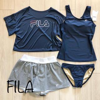 FILA - 新品 FILA フィラ 水着 4点セット タンキニ スポーツ NV M