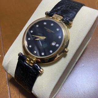 バレンシアガ(Balenciaga)のバレンシアガ 腕時計 クォーツ デイト 黒文字盤(腕時計(アナログ))