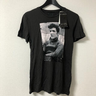 ZARA - ZARA ザラ エルビスプレスリー サイズS Tシャツ ブラック 新品未使用