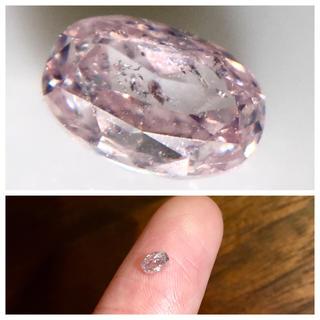天然ピンクダイヤモンド 0.161ct LIGHT PINK I-1  ルース(その他)