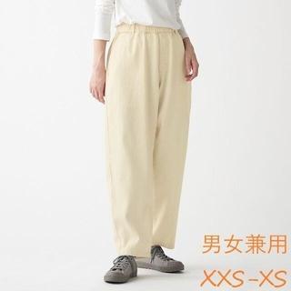 ムジルシリョウヒン(MUJI (無印良品))のデニムワイドテーパードパンツ  男女兼用XXS~XS 生成(デニム/ジーンズ)