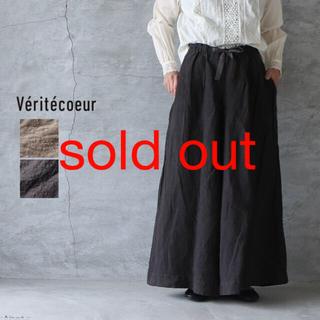 ヴェリテクール(Veritecoeur)のVeritecoeur/ ST-095 ハカマパンツ  炭黒(キュロット)