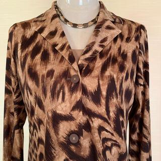 レオナール(LEONARD)の超美品レオナールLEONARD豹柄テーラードジャケットカンカン大きめMレオパード(テーラードジャケット)
