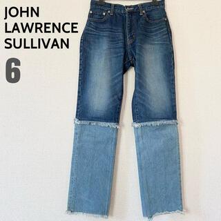 ジョンローレンスサリバン(JOHN LAWRENCE SULLIVAN)のJOHN LAWRENCE SULLIVAN 切り替え フリンジ デニムパンツ(デニム/ジーンズ)