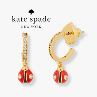 kate spade new york - 【新品♠本物】ケイトスペード てんとう虫ドロップピアス
