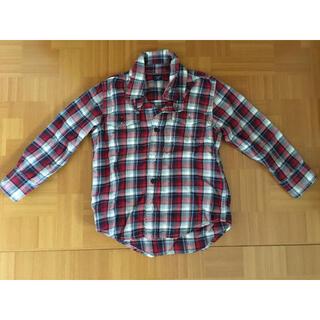 ベビーギャップ(babyGAP)のベビーGAP ギャップ ネルシャツ チェック柄 上着 赤 100(ブラウス)