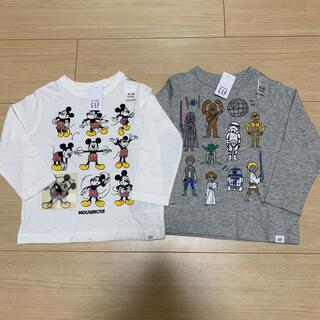 ベビーギャップ(babyGAP)の【新品タグ付き】ベビーギャップ 長袖Tシャツ2点セット(Tシャツ)