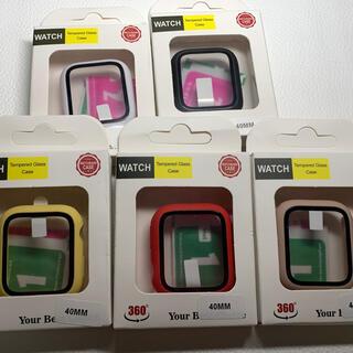 アップルウォッチ(Apple Watch)のApple Watch 全面保護ハードカバー 40ミリ用 5色!(モバイルケース/カバー)