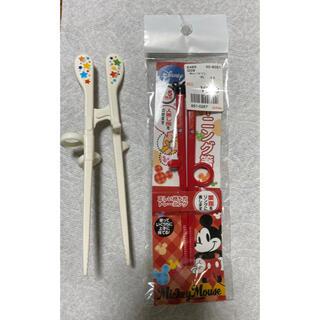 ミッキーマウス(ミッキーマウス)のエジソン箸・トレーニング箸(スプーン/フォーク)