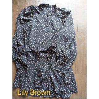 リリーブラウン(Lily Brown)のLily Brown トップス ブラウス フリーサイズ(シャツ/ブラウス(長袖/七分))