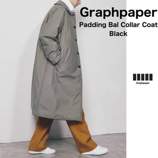 ワンエルディーケーセレクト(1LDK SELECT)のGraphpaper Padding Bal Collar Coat ブラック(ステンカラーコート)