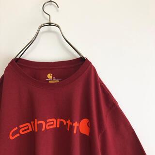 carhartt - 古着 カーハート 半袖Tシャツ XL フロントロゴ ビッグシルエット