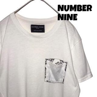 ナンバーナイン(NUMBER (N)INE)の【美品】ナンバーナイン NUMBER NINE Tシャツ カットソー M 白(Tシャツ/カットソー(半袖/袖なし))