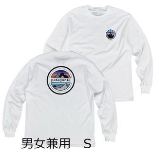 パタゴニア(patagonia)のパタゴニアTシャツ ロンT 長袖T 白 S カリフォルニアCA アウトドア (Tシャツ(長袖/七分))