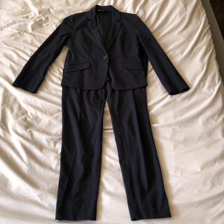 インディヴィ(INDIVI)のINDIVI ネイビー パンツスーツ(スーツ)