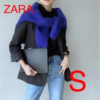 ザラ(ZARA)のZARA ソフトニットセーター ラウンドネックセーター 濃青 S(ニット/セーター)