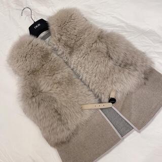 ダブルスタンダードクロージング(DOUBLE STANDARD CLOTHING)のDOUBLE STANDARD CLOTHING  大人気ファーベスト(毛皮/ファーコート)