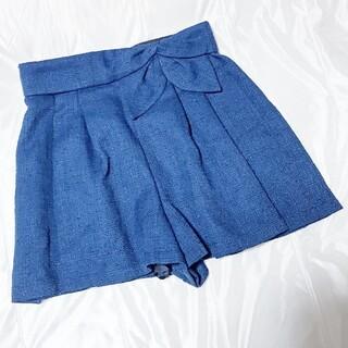 リランドチュール(Rirandture)の未使用新品☆リランドチュール リボン付きスカートパンツ/キュロット☆通勤通学(キュロット)
