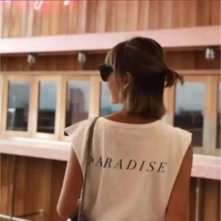SeaRoomlynn - SeaRoomlynnシールームリン パラダイス ノースリーブTシャツ 白 美品