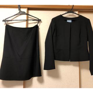 スーツカンパニー(THE SUIT COMPANY)のスーツカンパニー ノーカラースカートスーツ 40(スーツ)