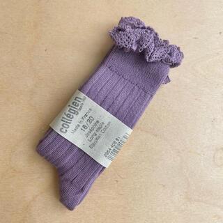 キャラメルベビー&チャイルド(Caramel baby&child )のCollegien レース付きハイソックス wisteria(靴下/タイツ)