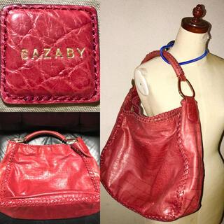 SAZABY - SAZABY送料込サザビー定価4万円程クロコ型押し革レザーエートートバッグカバン