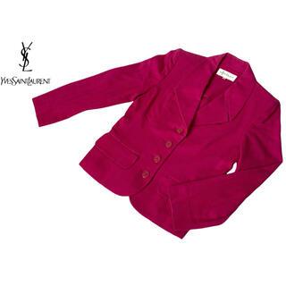 サンローラン(Saint Laurent)の【送料込み】イヴサンローラン テーラードジャケット ピンク(テーラードジャケット)