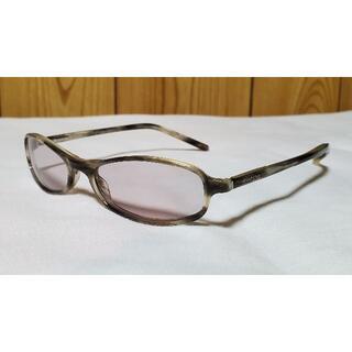 Gucci - 正規 グッチ クラシック プレートロゴ マーブルフレームサングラス 茶×銀 眼鏡